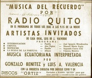 Radio Quito 1955